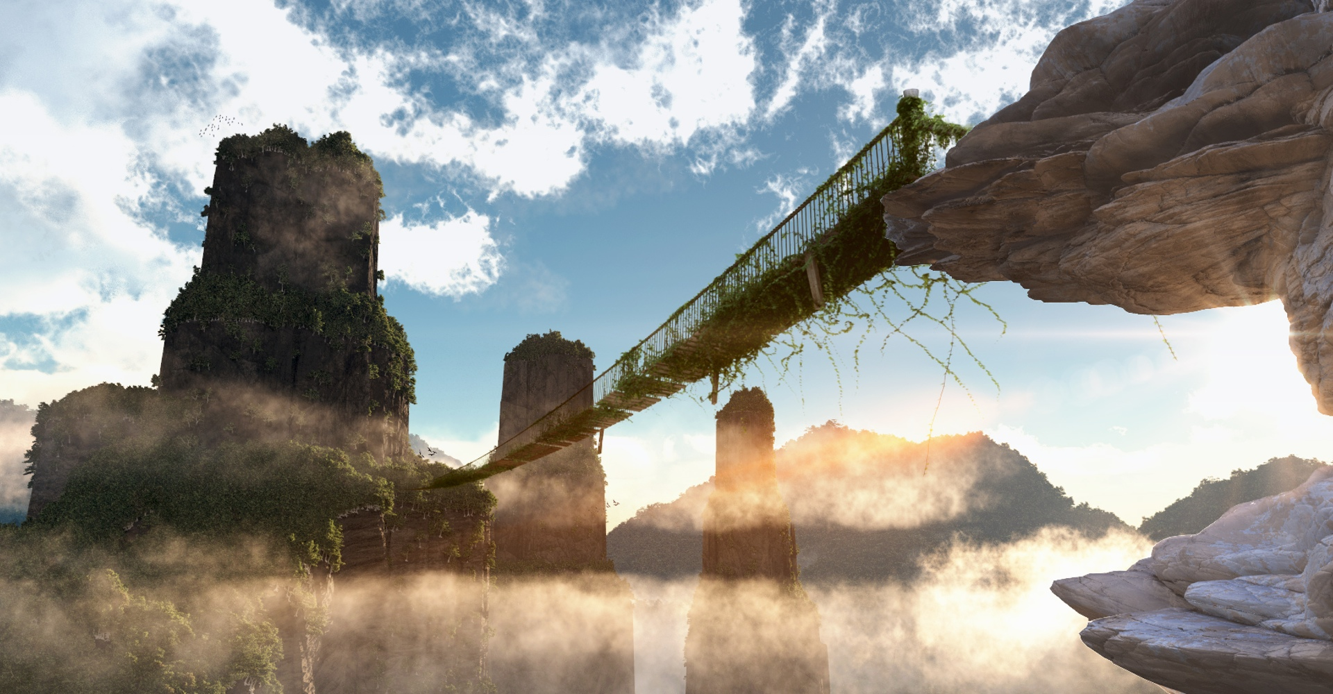 Jungle Bridge Rendering
